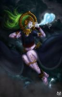 Swara, Mother of storms (edited) by Domax-art