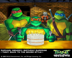 TMNT BTTS Memory-Raph's Gift by E-Mann