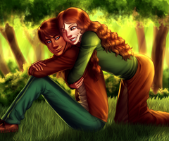 Commission - A forest date by AngelLust155
