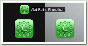 Upscaled Abril Phone Icon by ReyMugen