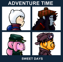 Adventure Time Album Cover: Sweet Days by Queen-Of-Cute