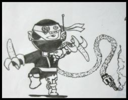 Ninja Cyborg Pirate Monkey by neuronboy42