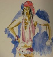 Pirate in Watercolor by dylan-erb
