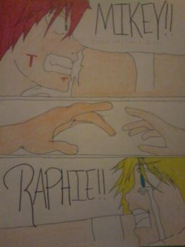 Raph try to grab mikey by luffylover123