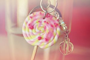Lollipop keychain by InnaAdamenya