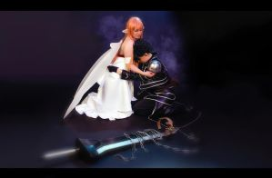Asuna and Kirito - Alfheim by Iloon-Creations
