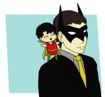Tiny Grayson on your Shoulder by CrimsonHorror
