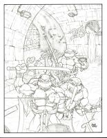 TMNT Rocking The Sewer by sketchheavy