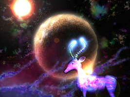 Vortex the Antelope in space by The-Greenhouse-Troll