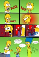 Homer and Maggie by toongrowner