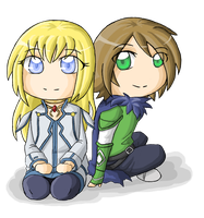 Request Colette Brunel and OC by ocelot-girl