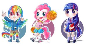 MLP set chibis 1 by Ayuyowsky