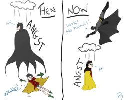 Batman: Then and Now by kaelafaye