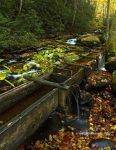 Old Mill Flume by TRBPhotographyLLC