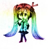 rainbow chibi miku by pehlx94