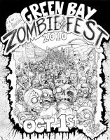 Green Bay Zombie In Fest by Kriescher138