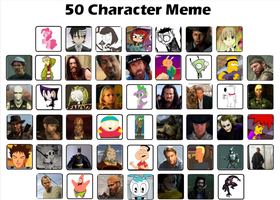 50 Character Meme (now with descriptions) by AssassinJ2