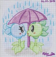 In the rain by PlantsOfLove097