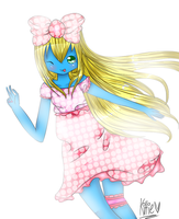 Smurfette : Robloxian Artists's Contest Entry by Oseuchichan