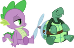 Spike and Tank by SilverMapWolf