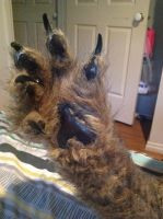 second werewolf glove and paw. another pic. by wolf-child1995