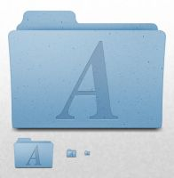 Mac OS X Folder - Fonts by ekliptikz