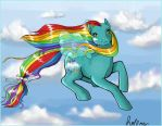 Cloud Weaver Pony by hollowzero