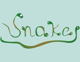 Typography Snake by thecreativehermit