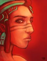 Mayan Girl Speed Painting by BalamTzibtah
