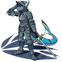 Shark Knight by FicusArt