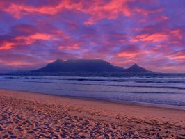 Sunset at Table Mountain by MatthiasHaltenhof