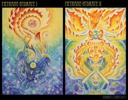 Methane Hydrate I and II by mythfits