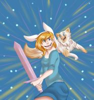 Fionna and Cake Back In Action by Freyamustdie