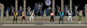 Mortal Kombat I Characters by schmitthrp