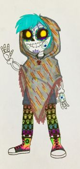 Me in The Book of Life Style  by Jackie-SugarSkull