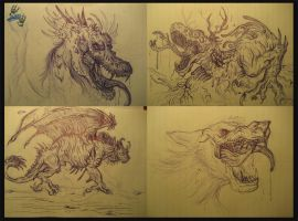 March 2012 Doodlies by The-Bluetip