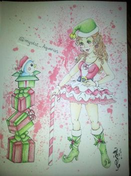 Candy Cane and Mr. Flibble by mSanchez89