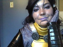 Tali makeup final version 1 by TaliBelle-Cosplay