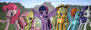 Mane 6 Minecraft Banner by argodaemon