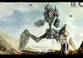 Big robot by Gruncirius
