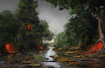 Swamp - speedpaint by Verticae