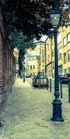 Latern and Street by Artursphoto