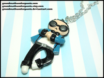 Gangnam Style Necklace Blue Version by GrandmaThunderpants