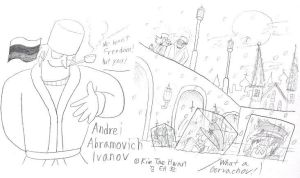 Josh and Andrei,battle in the Moscow by komi114