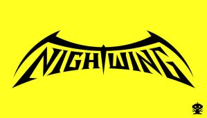 1996 Nightwing Comic Title Logo by HappyBirthdayRoboto