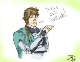 Zhong Hui Drinks Tea by sinisterkat
