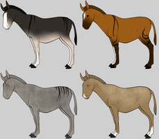 CLOSED Zorse Mule Adopts by lionsilverwolf