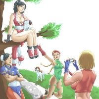 Commission - Capcom,Snk Characters by Mick-cortes