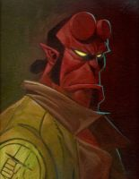 Hellboy from my school days! by JeffLCL