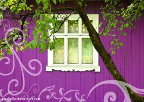 purple window by ginabo0p